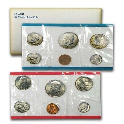 1979 US Mint P&D Uncirculated 12 Pc. Coin SetWith Original Government Packaging