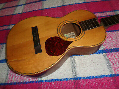 1930's A. Galiano Parlor Acoustic Mahogany w/Spruce  w/Case  NO RESERVE
