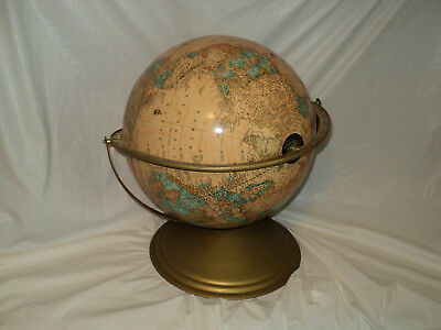 "Vintage Cram's IMPERIAL World Globe Made In U.S.A.   16"" Tall Globe"