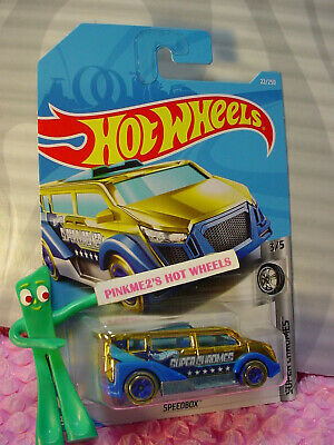 Hot Wheels 2019 #022//250 SPEEDBOX van gold and blue @F
