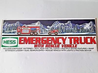 Collectible 2005 Hess Emergency Truck with Rescue Vehicle MINT NEW IN BOX
