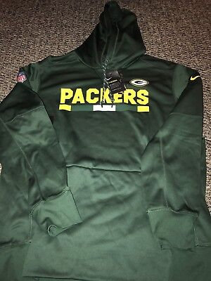 a0f8a529e Green Bay Packers 2017 Nike Therma fit Sideline Player PO Hoodie Sweatshirt  XL
