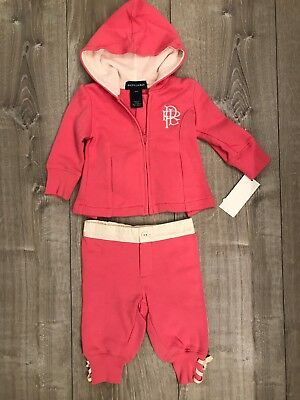 Ralph Lauren Polo Girls Sweatsuit 9m Girls' Clothing (newborn-5t)