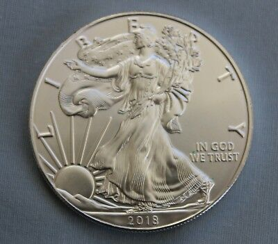 2018 Silver American Eagle Dollar 1 oz. .999 Fine Silver   Sharp!!