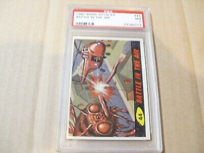 "Mars Attacks ""battle In The Air"" Card # 44 Graded By Psa Nm 7"