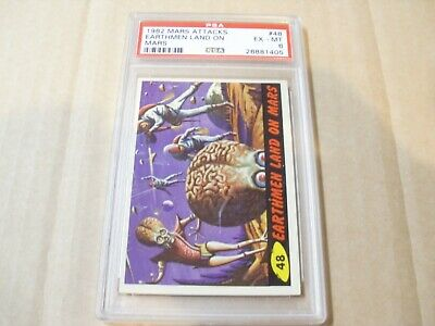 "Mars Attacks ""Earthmen Land On Mars"" Card # 48 Graded By Psa Ex-Mt 6"