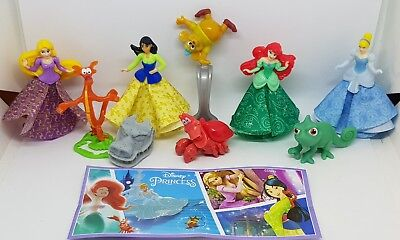 Kinder 2018, Disney Princess, Russia, compl. set with all Bpz