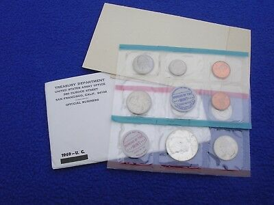 1969 P & D US Mint Uncirculated 10 Coin Set S Penny