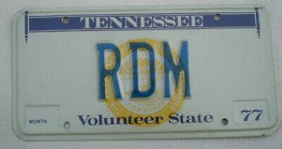 1977 Tennessee Vanity License Plate (De Tour)