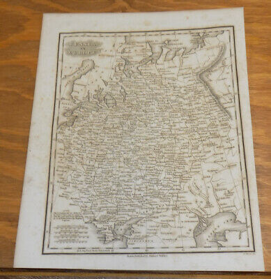 1834 Antique Map///RUSSIA IN EUROPE, published by Samuel Walker