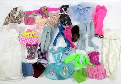 #24 Barbie Doll Accessory Clothing Fashion Lot Of 25 Pieces!