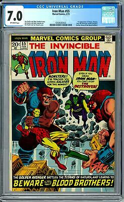 Iron Man #55 CGC 7.0 (OW) 1st Appearance of Thanos, Drax Infinity War