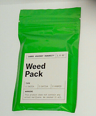 Cards Against Humanity WEED Pack Sealed / New Limited Edition 30 Cards Expansion