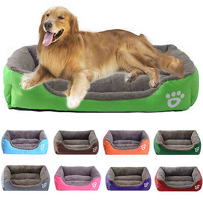 Large S-3XL Pet Dog Cat Bed Puppy Cushion Soft Warm Kennel Mat Blanket Washable
