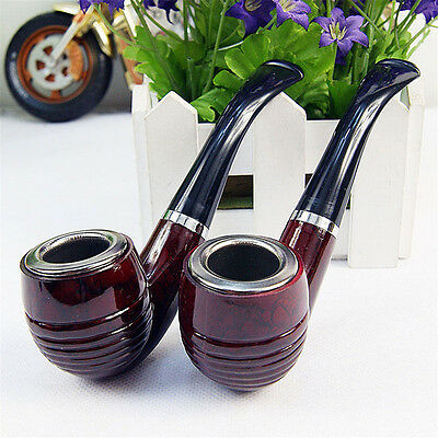 Durable Wooden Enchase Smoking Pipe Tobacco Cigarettes Filter Pipes Gift New ZP