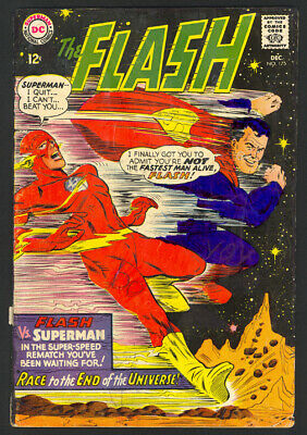 The Flash #175 - 2nd Flash/Superman Race - Silver Age - DC (1967) - VG/Fine