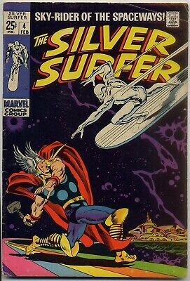 Silver Surfer #4 VG/FN 5.0 Ranks among all-time best Marvel covers, 25c giant