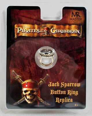 Pirates of the Caribbean JACK SPARROW BUTTON RING POTC Master Replicas Prop