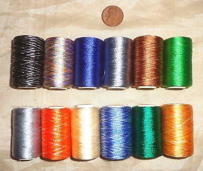 Sale 12 Small Spools Machine Embroidery Art Silk Rayon Thread 270 Yds H54 #025Q6