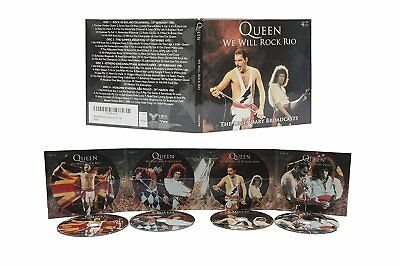Queen 'we Will Rock Rio - The Legendary Broadcasts' 4Cd Digipack - New/sealed