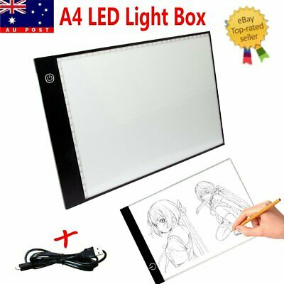 A4 LED Tracing Light Box Board Adjustable Brightness Art Copy  Stencil Simple