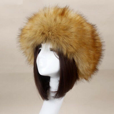 832706a6c7b Women Russian Lady Fluffy Fox Fur Hat Headband Winter Ear Warmer Ski Cap New