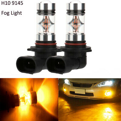 2pcs Amber H10 9145 Bulbs Replacement LED Fog Light For 2014-2017 Hyundai