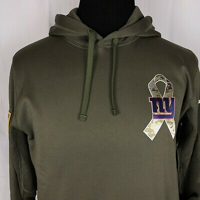 NIKE NFL ON FIELD APPAREL THERMA-FIT SALUTE TO SERVICE NY Giants Hoodie  Size S b3a850105
