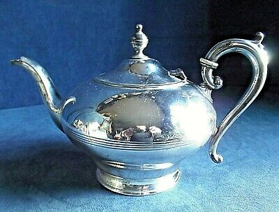 GOOD ~ GEORGIAN Styled ~ SILVER Plated ~ Bulbous TEAPOT ~ c1900 by James Deakin