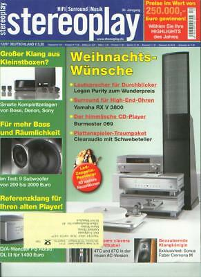 Stereopl. 12/07 Burmester 069,Naim CD 5i,Clearaudio Performance,NAD T 585,PS Aud