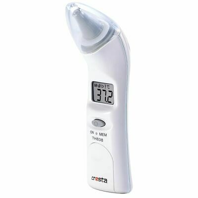 Cresta Ear Thermometer Medical Baby Adult Body Temperature TH838 White 70140.01