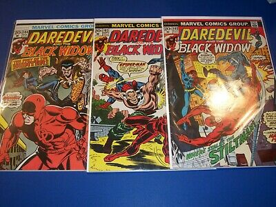 Daredevil #102,103,104 Bronze age lot of 3 Spider-man Black Widow