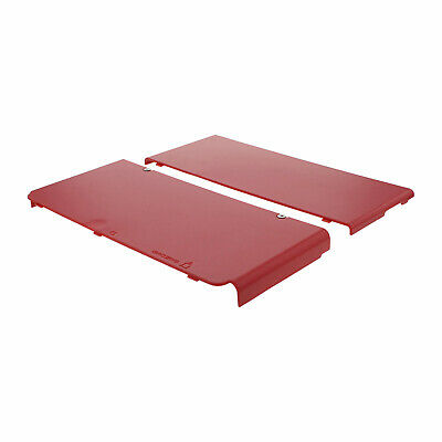 Cover plate for New 3DS Nintendo (2015) console top & bottom ZedLabz – Red