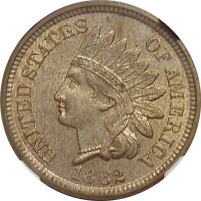 1862 Indian Cent--Nice Coin--MS-62--NGC