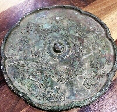 Antique Chinese Bronze Tang Dynasty mirror