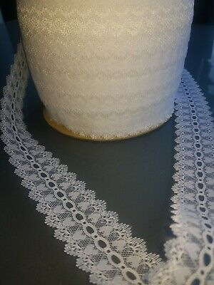 Craft EYELET LACE 35mm  - MINT  x 10Metres  ***NEW**