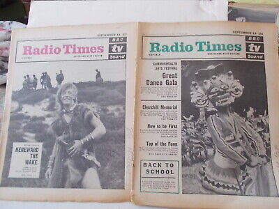 2 X Radio Times South & West Editi0N Sept.11-17 & Sept. 18-24 1965 , See Descrip