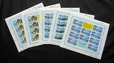 Grenadines of St.Vincent 1974, Map of Islands Set, Marginal Blocks Mint MNH.