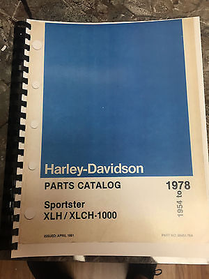 1954-1978   Harley-Davidson  Parts Catalog  Sportster XLH/XLCH-1000 Free S/H