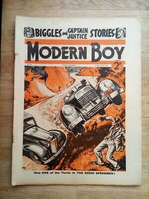 Modern Boy comic/mag from 1938 with Biggles Rescue Flight - W.E.Johns