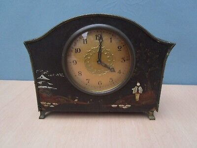 Vintage Mantle Clock With Oriental Design