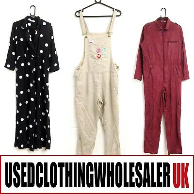 12 Women's Jumpsuits Boiler Dungarees Wholesale Clothing Fashion Joblot
