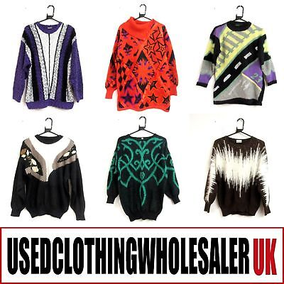 20 Women's Vintage Knitwear Jumpers Cardigans Wholesale Clothing Retro Joblot
