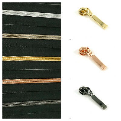 #5 Emmaline Zippers by the metre with 1 pull per m - choice of colours