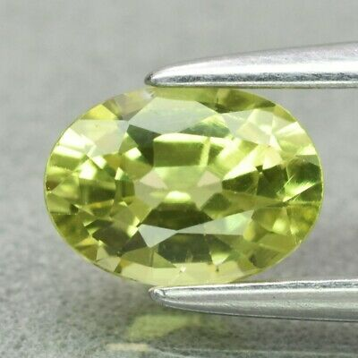Rare! 0.75ct 6.5x4.6mm VS Oval Natural Yellowish Green Mali Garnet, Madagascar