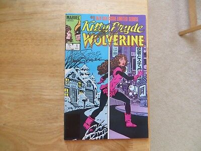 1984 Kitty Pryde & Wolverine # 1 Signed 2X Louise Simonson & Chris Claremont,poa