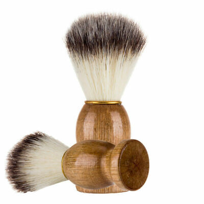Portable Shaving Brush Beard Shave Tool Practical with Wooden Handle for Men