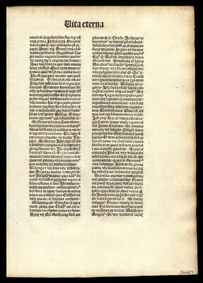 1481 Incunable Leaf Lot (3)  Flos Theologiae by N de Byard Mysterious Theologian