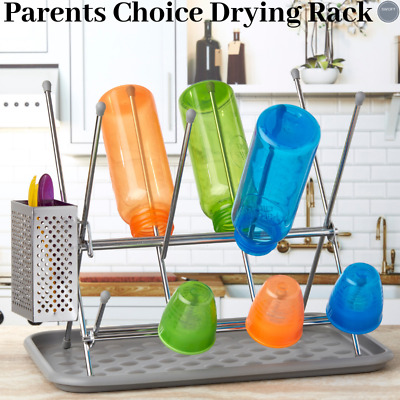 Parent's Choice Bottle Drying Rack, Stainless Steel BPA Free Dishwasher Safe