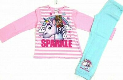 Girls Ex Store UNICORN SPARKLE Pyjamas Ages 6-7,8-9,10-11,12-13Yrs NEW